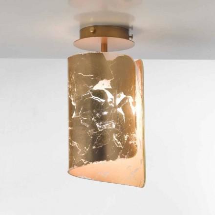 Selene Papiro cristal de la lámpara de techo Ø15 H30cm, fabricado en Italia