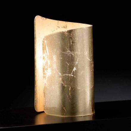 Selene Papiro de cristal lámpara de mesa hecho en Italia 15x14xH25cm
