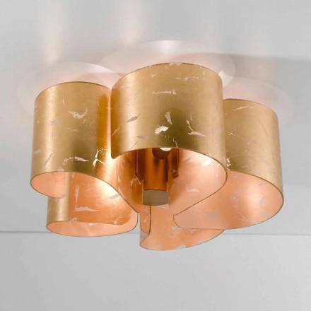 Selene Papiro luz de techo de cristal modernas Ø65 H28cm, fabricado en Italia