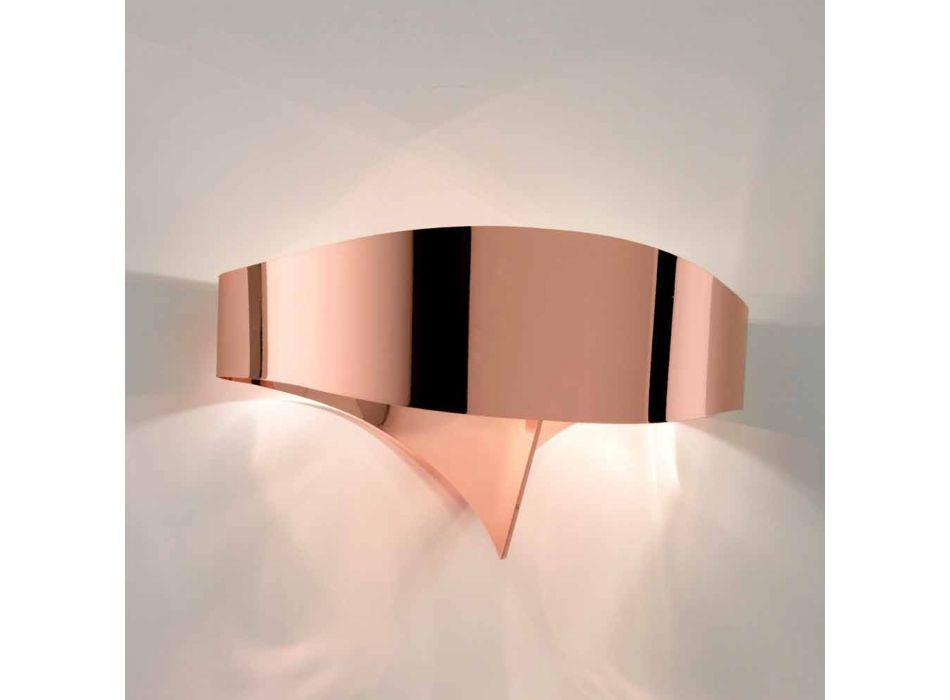 aplique de pared de diseño moderno Selene Escudo galvánica, fabricado en Italia