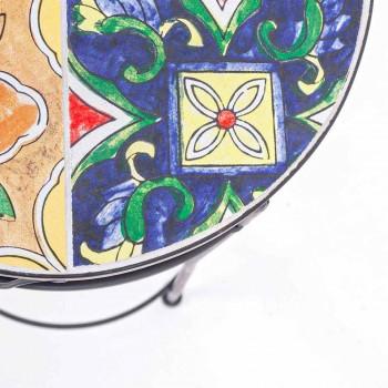Servicio 3 Mesas Redondas de Jardín en Acero y Decoración - Encantador