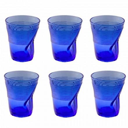 Vidrio coloreado Servicio de vasos de agua Diseño especial de 12 piezas - Sarabi