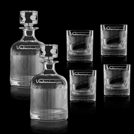 Servicio de Whisky de Cristal Ecológico Personalizable con Logo, 6 Piezas - Táctil