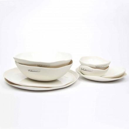 Servicio de vajilla de porcelana blanca de diseño de lujo de 24 piezas - Arciregale