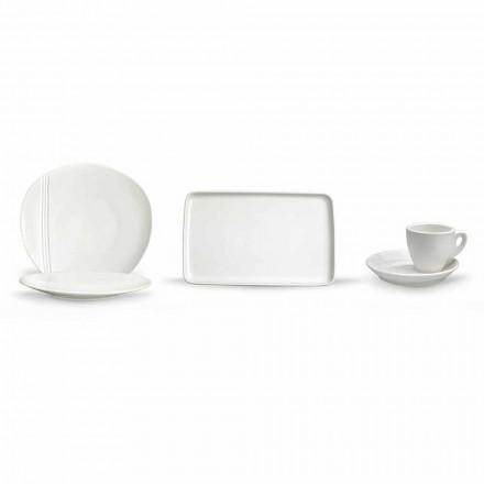 Set de platos modernos de aperitivo de porcelana 36 piezas - Nalah