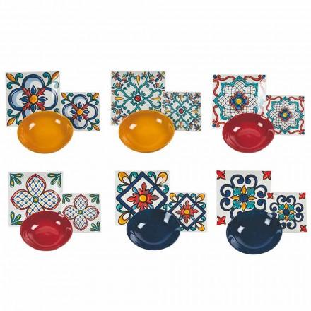 Servicio 18 Piezas Modern Gres y Platos Color Porcelana - Iglesias