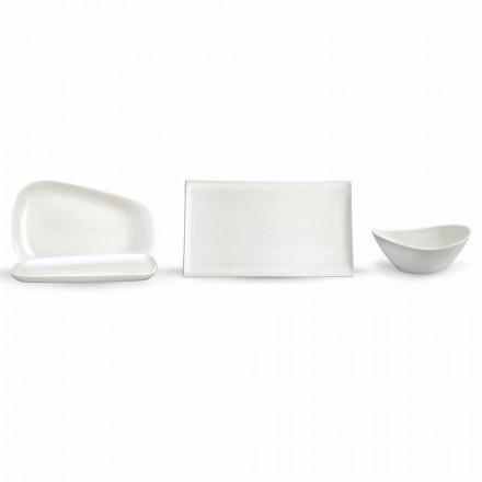 Platos para el almuerzo o porcelana moderna 14 piezas - Nalah
