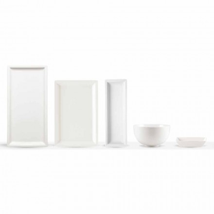 Juego de platos modernos de porcelana blanca, 25 piezas - Basal