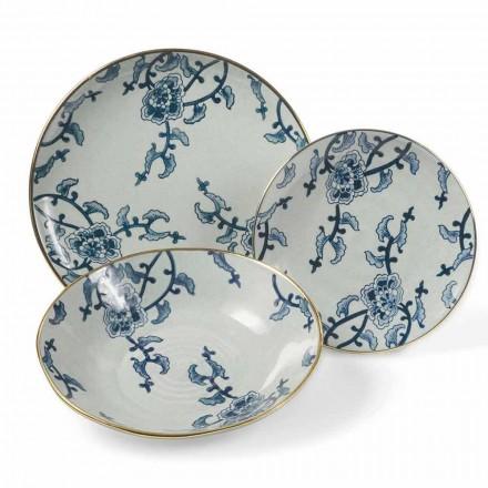 Juego de vajilla en porcelana moderna 18 piezas - Kyushu