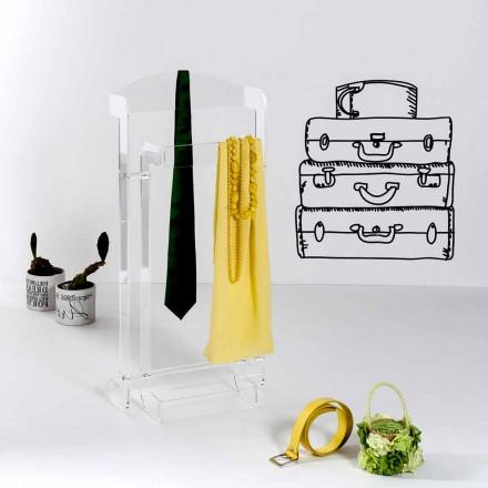 Valioso diseño moderno en plexiglás Mose transparente, fabricado en Italia