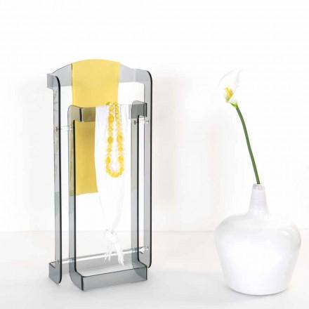 Stand de valet de diseño moderno en plexiglás Mose, hecho en Italia