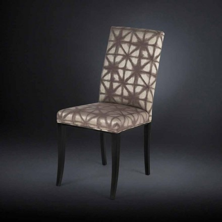 Set 2 sillas acolchadas con patas de madera negra Audrey
