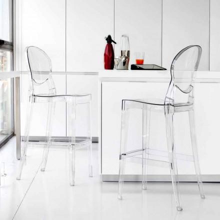 Taburete moderno elegantes policarbonato transparente Bosa