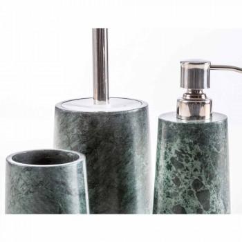 Accesorios de baño modernos en mármol verde moteado Bombei