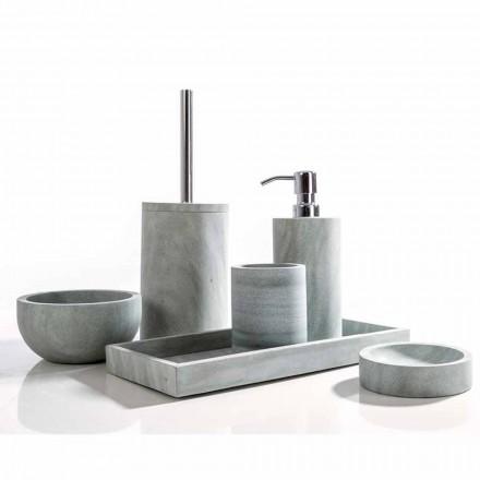 Juego de accesorios de baño Montale de piedra gris.