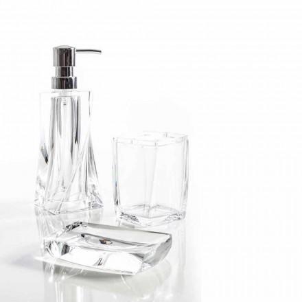 Torraca set dispenser + tumbler + soap dish para diseño de baño