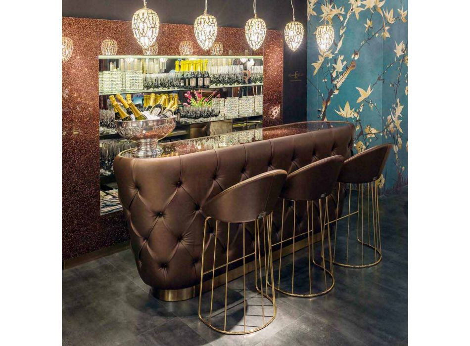 bar contemporáneo Taburete realizado 100% en Italia Dedo