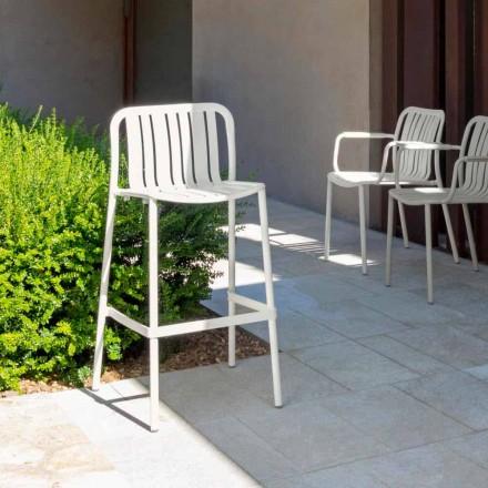 Taburete apilable moderno para exteriores Trocadero de Talenti, en aluminio