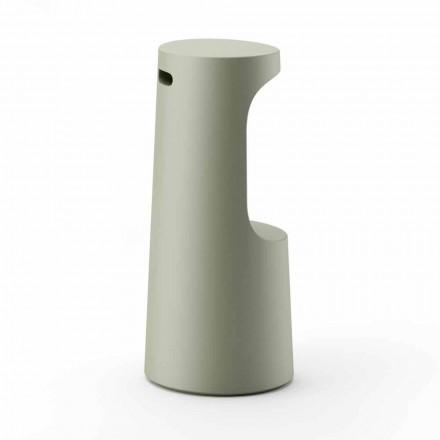 Taburete alto de diseño en polietileno mate para exterior Made in Italy - Forlina