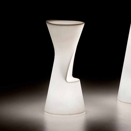 Taburete de exterior luminoso en polietileno con LED Made in Italy - Desmond