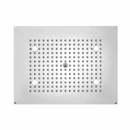Rociador de ducha rectangular con 1 chorro y LED Bossini