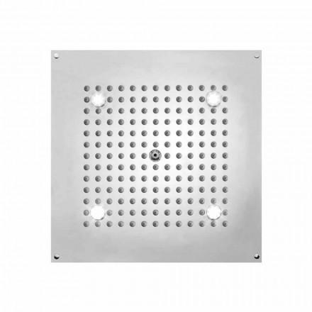 Rociador ducha cuadrado con 1 chorro y luces LED Bossini