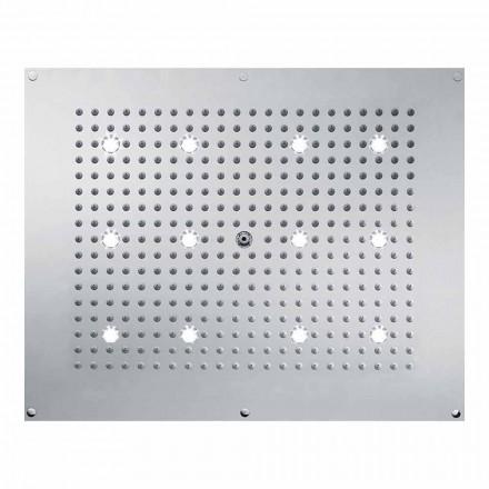 Rociador ducha de diseño con chorro de lluvia y luces LED