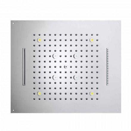 Rociador ducha moderno con 4 funciones y cromoterapia Dream