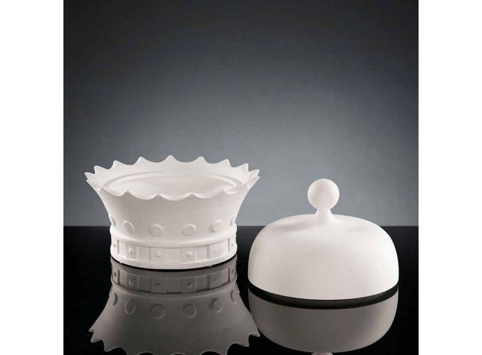 Adorno de cerámica hecho a mano en forma de corona Made in Italy - Kingo