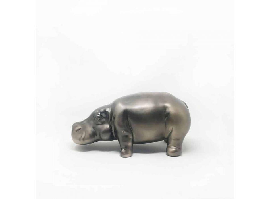 Adornos de cerámica en forma de hipopótamo, Made in Italy - Savage