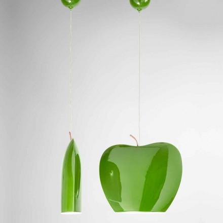 Suspensión en cerámica de diseño en forma de manzana - Frutas Aldo Bernardi