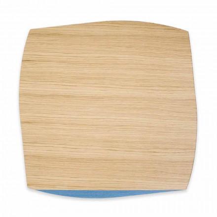 Mantel cuadrado moderno en madera de roble Made in Italy, 4 piezas - Abraham