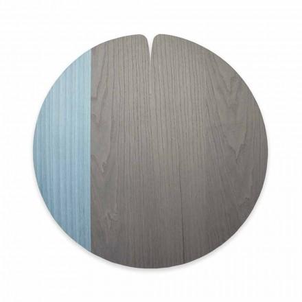 Mantel moderno hecho en Italia en madera natural real, 4 piezas - Stan