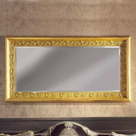 Espejo de pared de madera ayous hecho a mano moderno producido en Italia Enrico