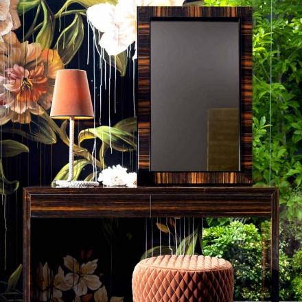 Espejo de pared / madera de ébano Grilli Zarafa hecho en Italia