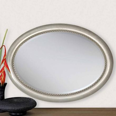 Espejo de pared de madera de diseño moderno, producido en Italia, Edoardo