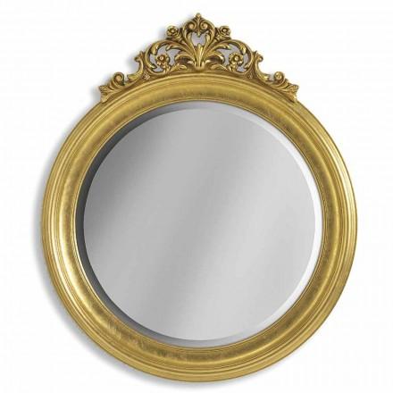 Espejo de pared de ayous con resina y resina, hecho a mano en Italia, Elia