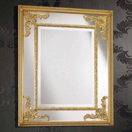Espejo de pared rectangular de madera, producido en Italia, Valentino