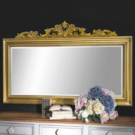 Espejo de pared hecho a mano en madera y resina friso producido en Italia Matteo