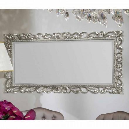 Espejo de pared moderno hecho a mano de madera, producido en Italia, Mattia