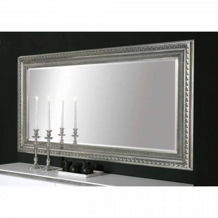 Claudio diseño moderno hecho a mano espejo de pared de madera, hecho en Italia