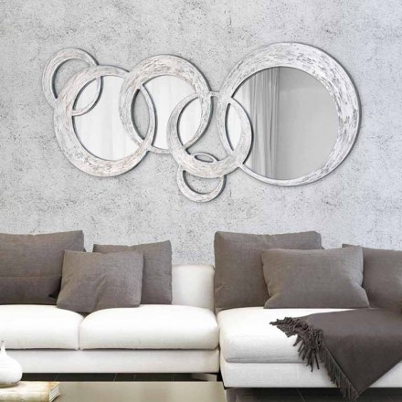 Espejo de pared de diseño Circles de Viadurini Decor