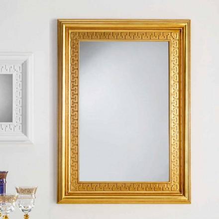 de pared de diseño espejo con marco de madera Viva, 96x132 cm