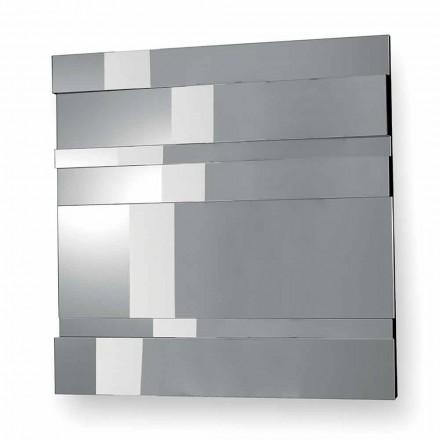 Espejo de Pared de Diseño Moderno en Vidrio y Metal Hecho en Italia - Pallino