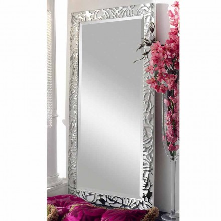 Espejo de pared de madera de diseño moderno, producido en Italia, Augusto