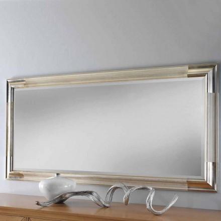 Espejo de pared moderno de madera, producido completamente en Italia, Piera