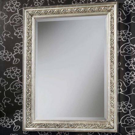 Moderno espejo de pared en madera, completamente hecho a mano en Italia, Piero
