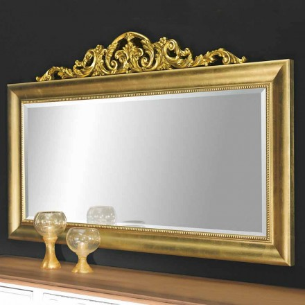 Espejo de pared moderno de madera, producido completamente en Italia, Kevin