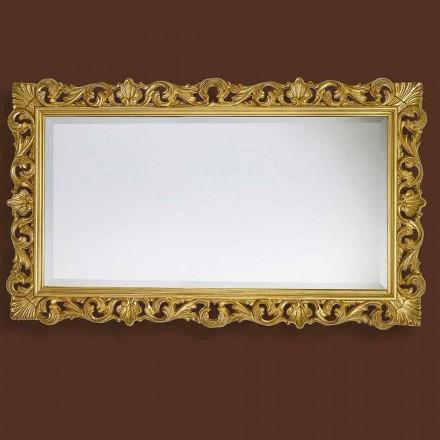 Espejo moderno hecho a mano de madera, producido completamente en Italia, Nicol.