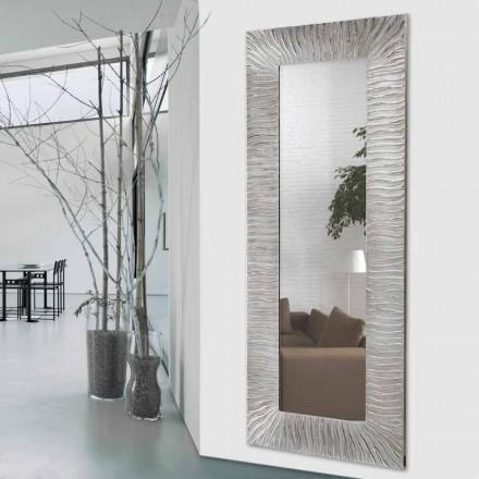 Espejo de diseño de pared Onde de Viadurini Decor realizado en Italia